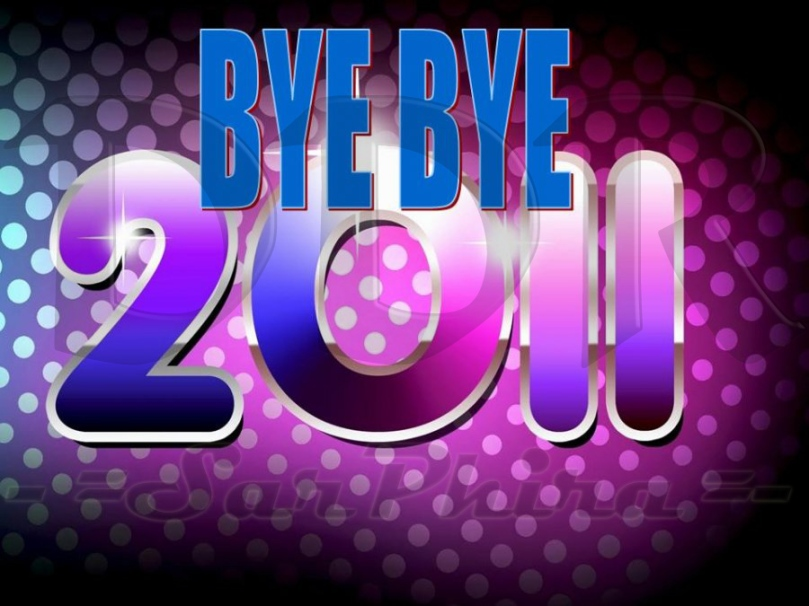 2011 text in purple and blue