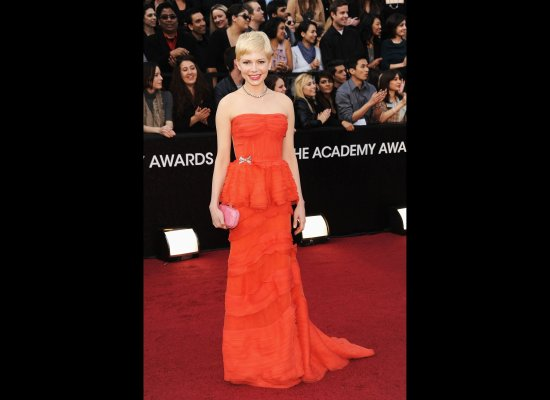 Michelle Williams in her 2012 Oscars dress