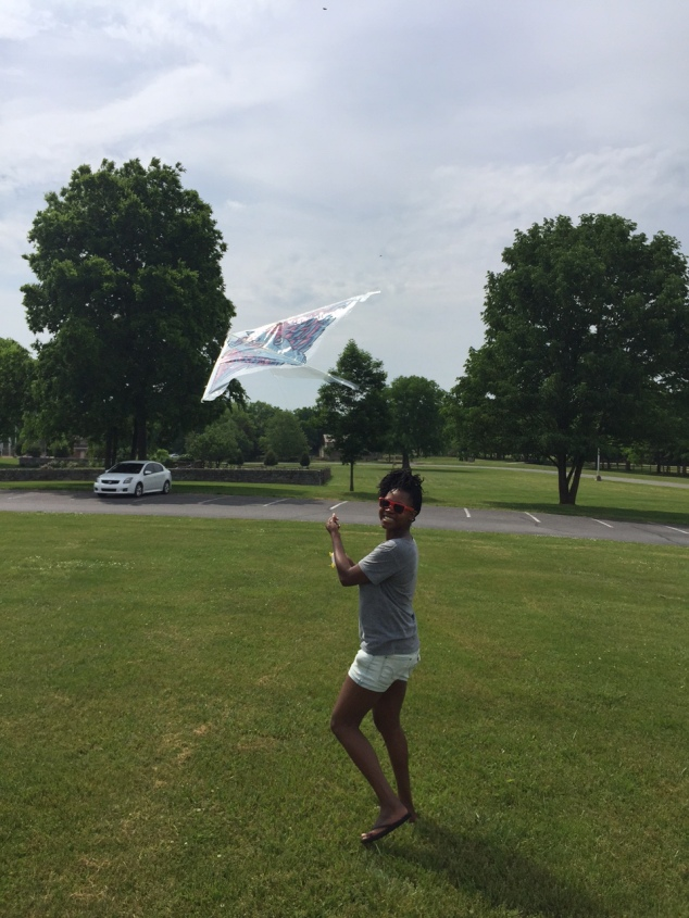 I had so much fun flying this kite after I gave Kiwi her balloon.