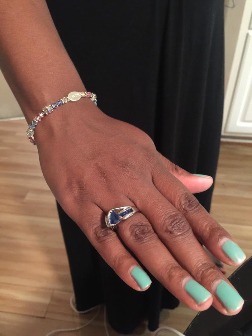 Blue and Pink Bracelet
